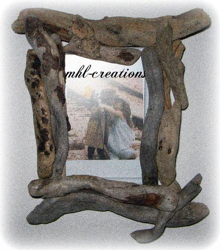Cadre bois flotte articles de la cat gorie cadre bois for Faire un cadre en bois flotte