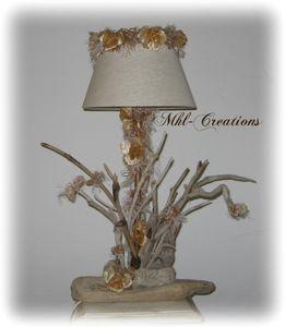 Lampe bois flotte articles de la cat gorie lampe bois for Bouquet bois flotte